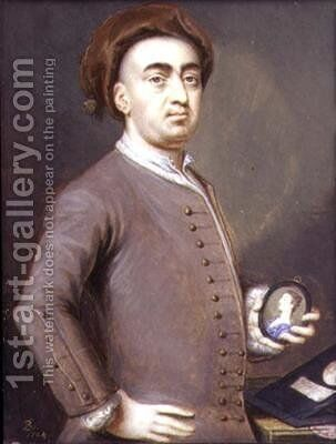 Self Portrait 1753-54 by Bernard III Lens - Reproduction Oil Painting