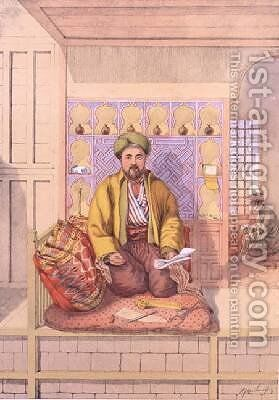 A Turkish Scribe by (after) Lennep, H.J. van - Reproduction Oil Painting