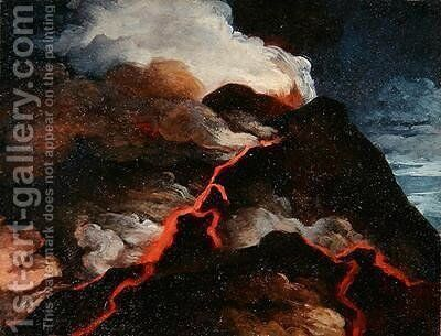 Vesuvius in eruption by Anicet-Charles-Gabriel Lemonnier - Reproduction Oil Painting