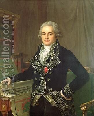 Portrait of Jean Antoine Chaptal 1756-1832 Comte de Chanteloupe by Anicet-Charles-Gabriel Lemonnier - Reproduction Oil Painting
