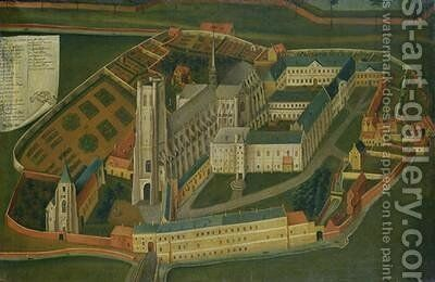 The Abbey of Saint-Bertin at Saint-Omer by Jacques Francois Lemaire - Reproduction Oil Painting