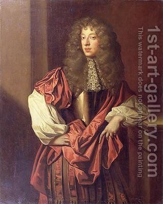 Portrait of John Wilmot 1647-80 2nd Earl of Rochester by Sir Peter Lely - Reproduction Oil Painting