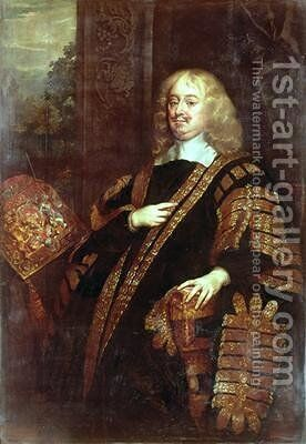 The Earl of Clarendon Lord High Chancellor by Sir Peter Lely - Reproduction Oil Painting