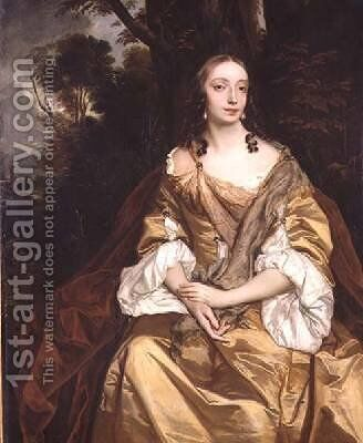 Portrait of a Lady probably Mary Parsons later Mrs Draper by Sir Peter Lely - Reproduction Oil Painting