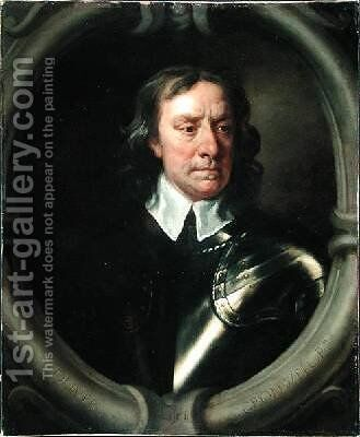 Portrait of Oliver Cromwell 1599-1658 by Sir Peter Lely - Reproduction Oil Painting