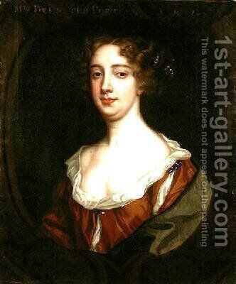 Aphra Behn 1640-89 by Sir Peter Lely - Reproduction Oil Painting