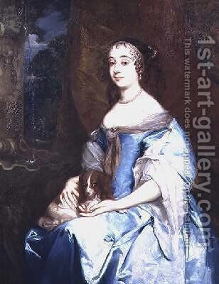 Portrait of Lady Margaret Parker by Sir Peter Lely - Reproduction Oil Painting