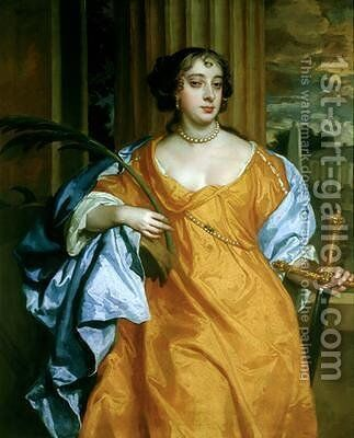 Barbara Villiers Duchess of Cleveland as St. Catherine of Alexandria by Sir Peter Lely - Reproduction Oil Painting