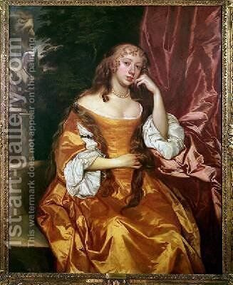 Margaret Brooke Lady Denham 1646-67 by Sir Peter Lely - Reproduction Oil Painting