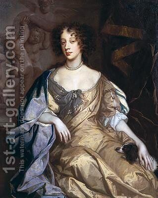 Portrait of Queen Mary of Modena 1658-1718 by Sir Peter Lely - Reproduction Oil Painting