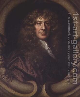 Portrait of a Gentleman by Sir Peter Lely - Reproduction Oil Painting