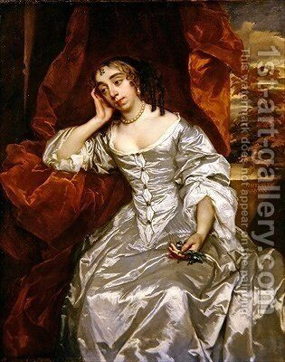 Portrait of Elizabeth Capel Countess of Carnarvon by Sir Peter Lely - Reproduction Oil Painting