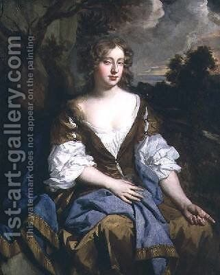 Portrait of Mary Moll Davis 1660-98 actress singer and dancer by Sir Peter Lely - Reproduction Oil Painting