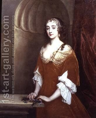 Portrait of a lady thought to be Anne Hyde Duchess of York by Sir Peter Lely - Reproduction Oil Painting
