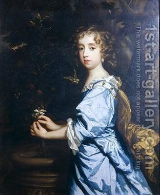 Isabella Dormer aged 8 by Sir Peter Lely - Reproduction Oil Painting
