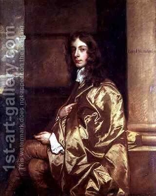 Portrait of Henry Spencer 1620-43 by Sir Peter Lely - Reproduction Oil Painting
