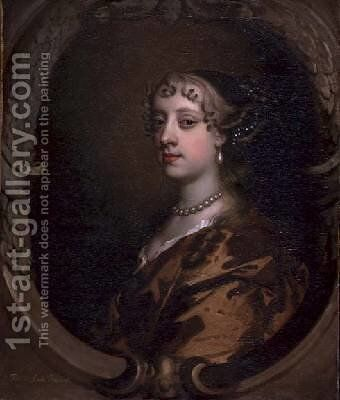 Lady Frances Savile Later Lady Brudenell by Sir Peter Lely - Reproduction Oil Painting