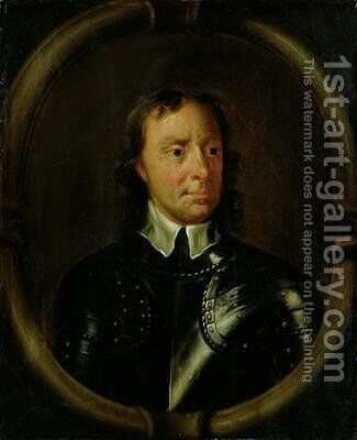 Portrait of Oliver Cromwell 1599-1658 2 by Sir Peter Lely - Reproduction Oil Painting