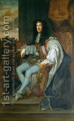 Portrait of King Charles II by Sir Peter Lely - Reproduction Oil Painting