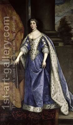 Catherine of Braganza 1638-1705 by Sir Peter Lely - Reproduction Oil Painting