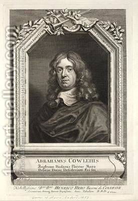 Abraham Cowley by Sir Peter Lely - Reproduction Oil Painting
