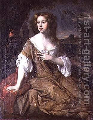 Portrait of a Lady in a Brown Cloak by Sir Peter Lely - Reproduction Oil Painting