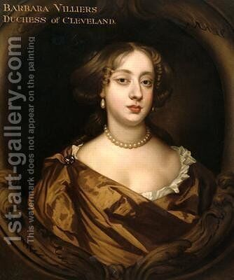 Portrait of Barbara Villiers 1641-1709 Duchess of Cleveland by Sir Peter Lely - Reproduction Oil Painting