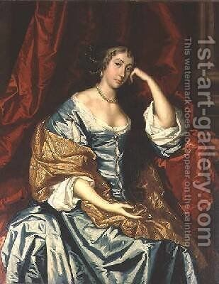 Portrait of a lady Seated by Sir Peter Lely - Reproduction Oil Painting
