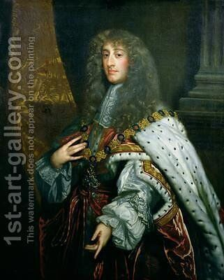 Portrait of James II 1633-1701 in Garter Robes by Sir Peter Lely - Reproduction Oil Painting