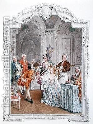 The Toilette by Maurice Leloir - Reproduction Oil Painting