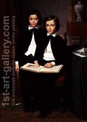Two Brothers by Maurice Leloir - Reproduction Oil Painting