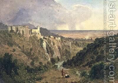 Tivoli with the campagna beyond by William Leighton Leitch - Reproduction Oil Painting