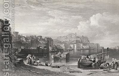 Pozzuoli the Ancient town of Puteoli by William Leighton Leitch - Reproduction Oil Painting