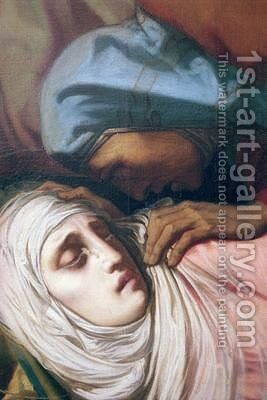Virgin Mary at the Foot of the Cross by Henri (Karl Ernest Rudolf Heinrich Salem) Lehmann - Reproduction Oil Painting