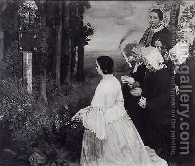 Ex Voto by Alphonse Legros - Reproduction Oil Painting