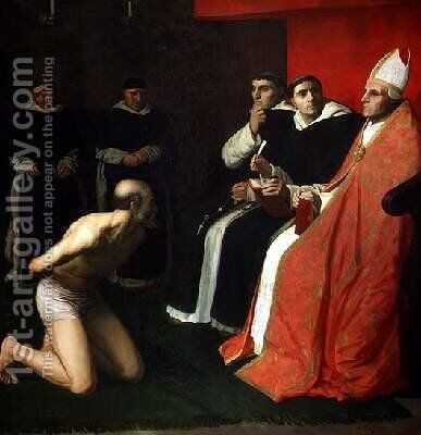 An Honourable Penitent by Alphonse Legros - Reproduction Oil Painting