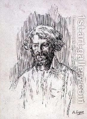 Self Portrait by Alphonse Legros - Reproduction Oil Painting