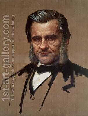 Portrait of Thomas Henry Huxley 1825-95 by Alphonse Legros - Reproduction Oil Painting