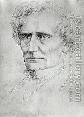 Portrait of Hector Berlioz by Alphonse Legros - Reproduction Oil Painting