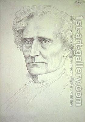Portrait of Hector Berlioz 2 by Alphonse Legros - Reproduction Oil Painting