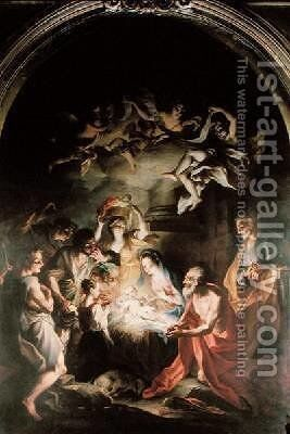 Nativity with St Jerome by Stefano Maria Legnani - Reproduction Oil Painting