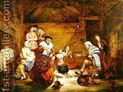 In the Crofters Home by Alexander Leggett - Reproduction Oil Painting