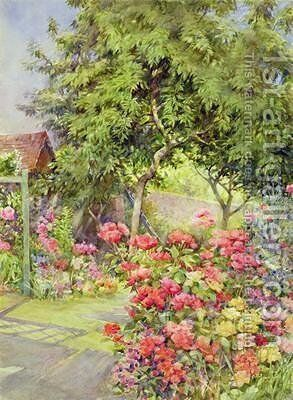 The Artists Garden by Arthur Legge - Reproduction Oil Painting