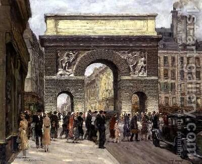 Porte St Martin by Jean Lefort - Reproduction Oil Painting