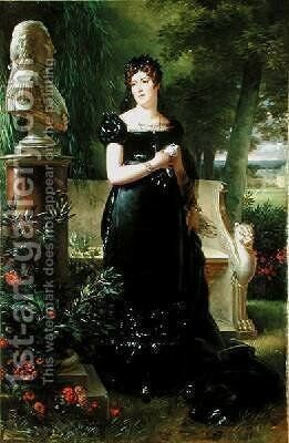 Portrait of Madame Bessieres by Robert-Jacques-Francois-Faust Lefevre - Reproduction Oil Painting