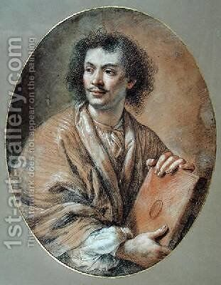 Portrait of Moliere 1622-73 by Claude Lefebvre - Reproduction Oil Painting