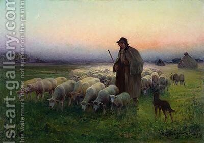 The Return to the Field by Charles Amable Lefebvre - Reproduction Oil Painting