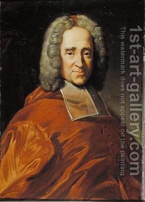 Cardinal Guillaume Dubois 1656-1723 by Charles Lefebvre - Reproduction Oil Painting