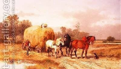 Carting hay by Alexis de Leeuw - Reproduction Oil Painting