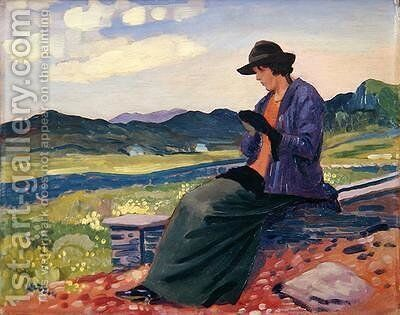 Lyndra in Wales by Derwent Lees - Reproduction Oil Painting